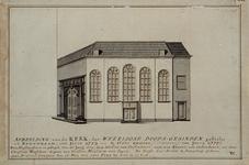 RI-797 Doopsgezinde of Mennonitenkerk aan de St. Laurensstraat. Afbeelding van de kerk, der weerloose doops-gesinden, ...