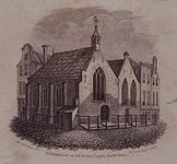 RI-803 De eerste of oude Schotschekerk, of Sint-Sebastiaanskapel, in de 1e Lombardstraat.
