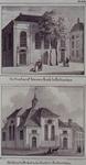 RI-809-1-EN-2 Boven ( RI 809-1 ): Gezicht op de Ooster of Nieuwe Kerk aan de Hoogstraat.Onder ( RI 809-2 ): Gezicht op ...
