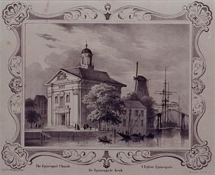 RI-827 De Episcopale Kerk aan het oostelijk eind van het Haringvliet.
