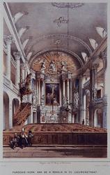 RI-831 Interieur Parochie-Kerk van de H. Rosalia in de Leeuwenstraat.