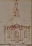 RI-834 Bouwkundige tekening van de RK kerk aan het Steiger.