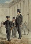 RI-866-2 Kleding der jongens in het Gereformeerde Burgerweeshuis aan de Goudsewagenstraat.2 tekeningen in één karton: ...
