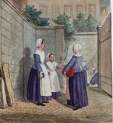 RI-873 Wezen van de Bisschoppelijke Klerezy op het weeshuis Sint Jansplaats van de Oud-katholieke kerk aan de Lange ...