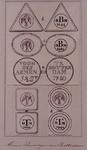 RI-883 Afbeelding van een vijftal armen penningen of heillige geest loodjes van Rotterdam. Brood- en turfloodjes van ...