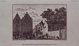 RI-908A Wijde Broedersteeg.Erasmiaans Gymnasium ca 1723.