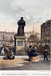 RI-925-6 Het standbeeld van Erasmus aan de Grotemarkt.