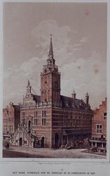 RI-930 Gezicht op het Oude stadhuis aan de Hoogstraat.