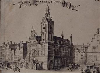RI-931 Het Stadhuis aan de Hoogstraat.