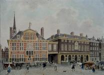 RI-943 Gezicht op het oude stadhuis en de Waag aan de Kaasmarkt.