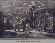 RI-948 Het Stadhuis aan de Kaasmarkt, van de Lombardstraat gezien, zonder het hek.