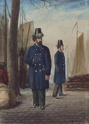 RI-956 Politiewinterkleding, ingevoerd in februari 1867.