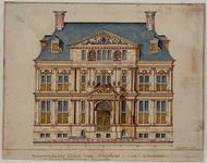 RI-983-1 De voorzijde van het Schielandshuis in de Korte Hoogstraat.