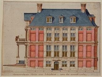 RI-984-2 De noordzijde van het Schielandshuis in de Korte Hoogstraat.