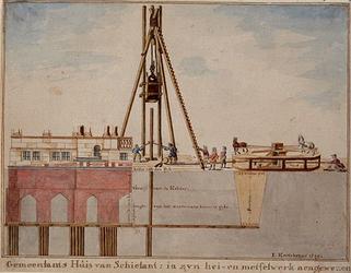 RI-986-1 De bouw van het Schielandshuis.