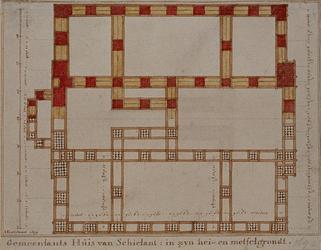 RI-986-2 Bouwtekening van het Schielandshuis.