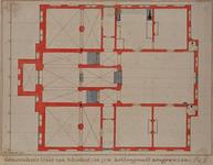 RI-987-1 Bouwtekening van de begane grond van het Schielandshuis.