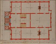 RI-987-2 Bouwtekening van de 1e verdieping van het Schielandshuis.