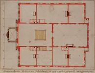 RI-988-1 Bouwtekening van de 2e verdieping van het Schielandshuis.