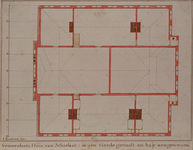 RI-988-2 Bouwtekening van de 3e verdieping van het Schielandshuis.