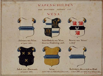 RISCH-102-1 Wapenschilden van de heren van Wena.