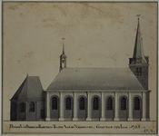 RISCH-103A De kerk van Berkel en Rodenrijs te zien aan de Noordzyde, Gestigt in 't Jaar 1733'