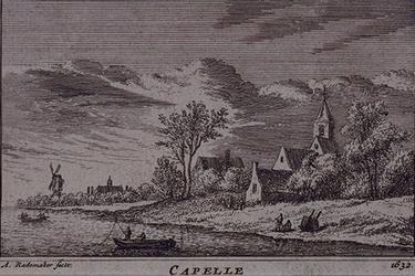 RISCH-105 Gezicht op het dorp Capelle.