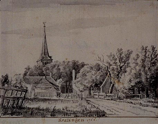 RISCH-116 Gezicht op Kralingen anno 1766.
