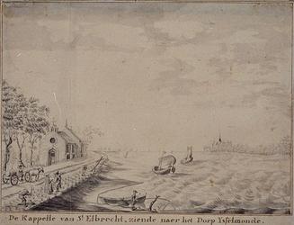 RISCH-123 De kapel van St.Elbrecht, met uitzicht op IJsselmonde.