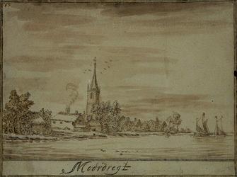 RISCH-127A Gezicht op het dorp Moordrecht.