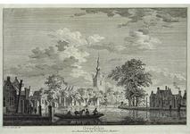 RISCH-136 Overschie met de Delftsche Schie en de Nederlands Hervormde Kerk.