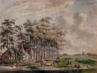 RISCH-148 Boerderij Vrijenban en de buitenplaats Veelzigt, aan de Delftweg.