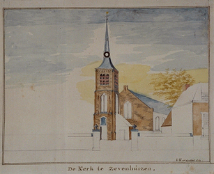 RISCH-156 De Kerk te Zevenhuizen.