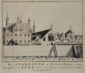 RISCH-173 Het Stadhuis te Delfshaven, en de St. Anthonis Capel, Ao 1667.