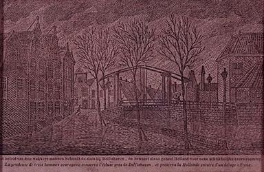 RISCH-176-A 14 november 1775Stormvloed en overstroming te Delfshaven.