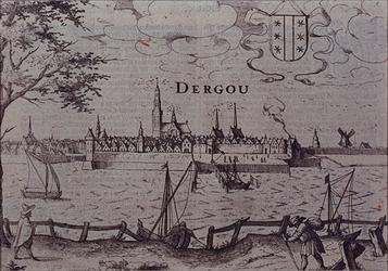 RISCH-199 Gouda vanaf de overzijde van de IJssel.