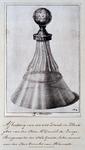 RISCH-222 Afbeelding van een drink- en klinkglas van de heer mr. Daniel de Lange, burgemeester van Gouda, die later ...