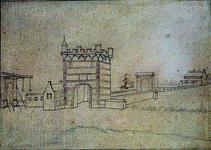 RISCH-247-B Overschiese Poort te Schiedam anno 1598.