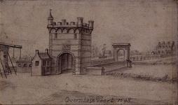 RISCH-247A De Overschiese Poort te Schiedam anno 1598.