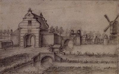 RISCH-249A De Vlaardingse Poort te Schiedam anno 1598.