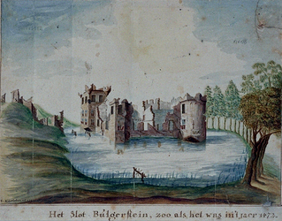 RISCH-37 Het slot Bulgerstein, zoo als het was in 't jaer 1472.