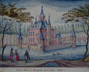 RISCH-43 Het slot te Kapelle aen den Yssel.