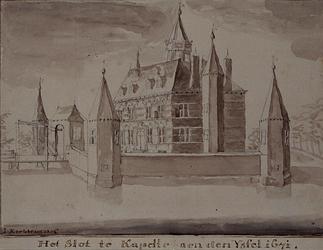 RISCH-44 Het slot te Kapelle aen den Yssel 1671.