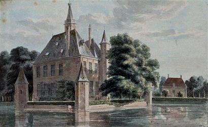 RISCH-45 Het slot Capelle aan den IJssel anno 1731.