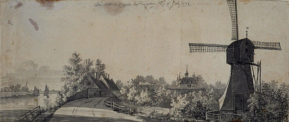 RISCH-49 Het slot te Capelle aan de IJssel anno 18 July 1751.