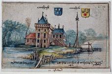RISCH-50 Het huijs Croosijck of reusen huys en duijfhuijs geheten 1412.Het huis Crooswijk aan de Rotte ...