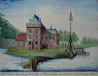 RISCH-51 Huis te Krooswijk anno 1412, aan de Linker Rottekade.