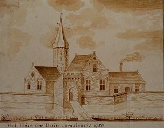 RISCH-56 Het Huis ter Duin omstreeks 1450.