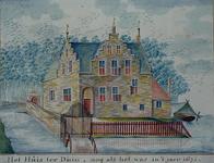 RISCH-58 Het Huis ter Duin, zoo als het was in 't jaer 1671.