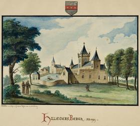 RISCH-59 Kasteel en kerk te Hillegersberg in 1426.